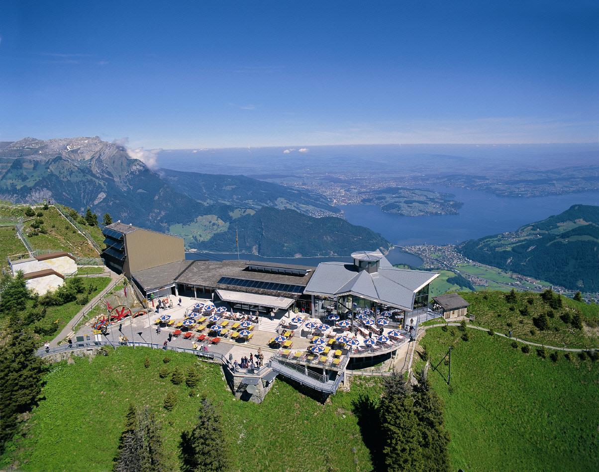 Luftbild Stanserhorn Zentralschweiz